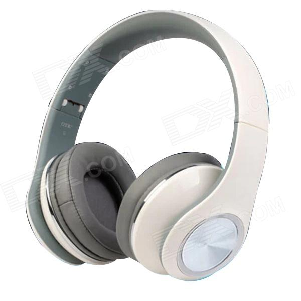 OYK OK-8808 3.5mm Wired Stereo Headband Headphone w/ Microphone - White trendwoo® twins bluetooth wireless speaker support 2 0 left and right stereo sound surround with built in microphone hands free music player
