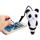 2-in-1 Cute Panda Style Stylus Pen w/ Dustproof Plug for IPHONE / IPOD / IPAD - Black + White
