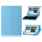 Protective Leather Case w/ Built-in Bluetooth 59-Key Keyboard for IPAD MINI / Android Tablets - Blue