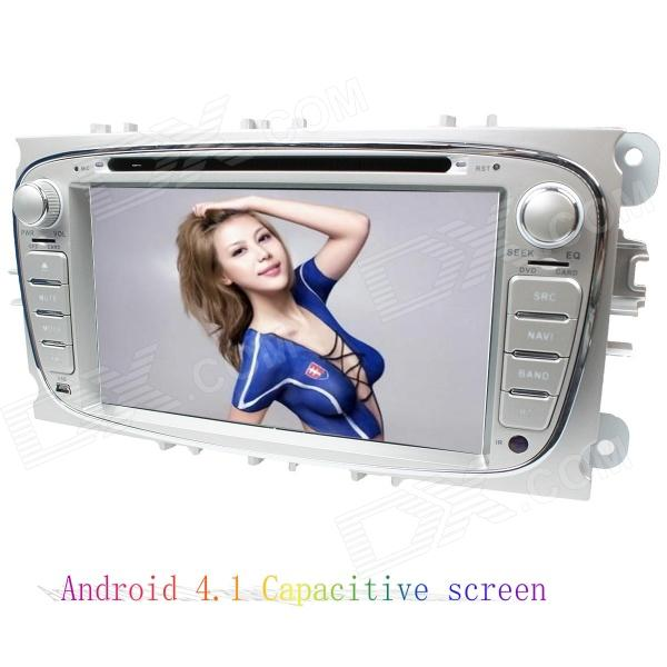 LsqSTAR 7 Android4.1 Capacitive Screen Car DVD Player w/ GPS WiFi Canbus AUX for Mondeo/Focus/S-Max car mp5 player bluetooth hd 2 din 7 inch touch screen with gps navigation rear view camera auto fm radio autoradio ios