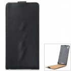 Protective Top Flip Open PU Case for Sony Xperia Z2 / D6503 - Black