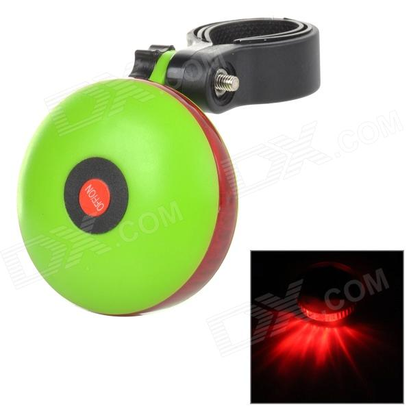 UFO Style 6-LED 7-mode Red Light Warning Tail Lamp for Bicycle - Red + Green (2 x AAA)