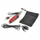 Mini USB 2.0 800dpi Wired Ergonomic LED Mouse w/ Front-Back Keys - Dark Red + Black (72cm-Cable)