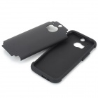 2-in-1 Protective PC + Silicone Back Case for HTC M8 - Black