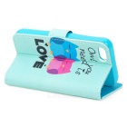 YI-YI Cute Cartoon Sova vzor Flip Open PU Case w / Stand / sloty pro iPhone 5 / 5S - zelené