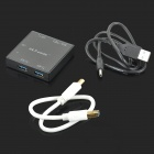 Mini USB 3.0 3-Port Hub / Card Reader - Black + White