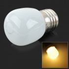 JRLED E27 3W 200lm 3000K 10-SMD 2835 LED Warm White Light Mini Bulb - White + Silver (AC 220~240V)