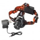 M11 LED 400lm 3-Mode Cool White Justerbar Zooming Focus hodelykt-svart + rød (2 x 18650)