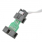LUNGO DIAN WI-03 ISP 10 Pin a 6 Pin USB Download adattatore Downloader per Arduino - nero + verde
