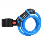 TONYON TY566 Universal 5-Digit Password Security Anti-Theft Bicycle Bike Lock - Black + Blue