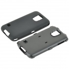 Hybrid 3-in-1 Protective PC + Silicone Back Case Cover for Samsung Galaxy S5 - Black