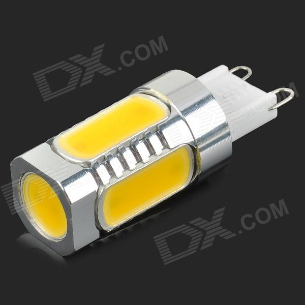 MSLED GF05 G9 5W 220lm 3500K 5-COB LED Warm White Light Crystal Lamp - Silver + Yellow (AC 96~265V)