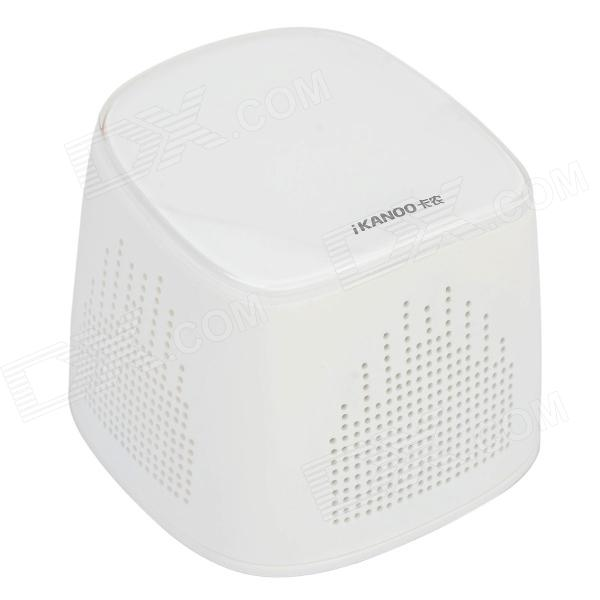 IKANOO I102 Bluetooth V3.0 Hands-free Speaker w/ Microphone + TF Slot - White n11 hands waving recognition bluetooth v3 0 stereo speaker w microphone tf card slot blue