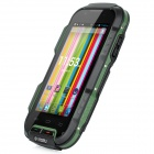 "OINOM V9 Wateproof Dustproof Shockproof Quad-core Android 4.2.1 WCDMA Phone w/ 4"", Wi-Fi - Green"