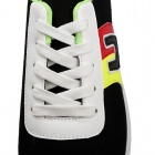 SNJ 98-518 Men's Fashionable Casual Canvas Shoes - Yellow + Red + Black (Pair / EUR Size 43)