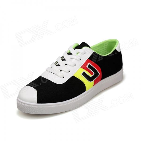 SNJ 98-518 Men's Fashionable Casual Canvas Shoes - Yellow + Red + Black (Pair / EUR Size 44)