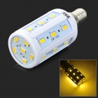 JRLED E14 5W 350LM 3300K 24 LED SMD 5730 Warm White Corn Lamp - White + Prata (AC 220 ~ 240V)