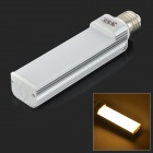 JRLED E27 12W 900lm 3300K 52-SMD 2835 LED Warm White Horizontal Lamp - Silver + Ivory (AC 85~265V)