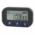 "C61 Multifunctional 1.9"" LCD Digital Display Vehicle Car Mounted Calendar Alarm Clock (2 x AG10)"