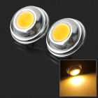 JRLED JR-LED-2W G4 2W 100lm 3000K COB LED Warm White Spotlights - Silver + Yellow (2 PCS / 12V)