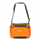 "OKADE T23 Fashionable Square Outdoor Travel 10"" Nylon Shoulder Messenger Bag - Orange + Black"