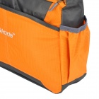 "OKADE T23 fasjonable Square utendørs reise 10"" Nylon skulder Messenger Bag - Orange + Black"