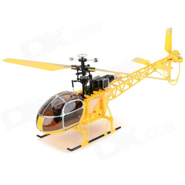 WLtoys V915 4-CH 2.4GHz Radio Control R/C Helicopter Toy - Yellow (4 x AA) wltoys wl r4 2 9 lcd 6 axis multi function remote controller for r c toy black 4 x aa