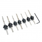 High-carbon Steel Cutting Countersink Drill Bit Tool Set w/ Wrench - Silver Grey + Black (7PCS)
