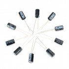 DIY 16V / 220UF Aluminum Electrolytic Capacitor - Black (10PCS)