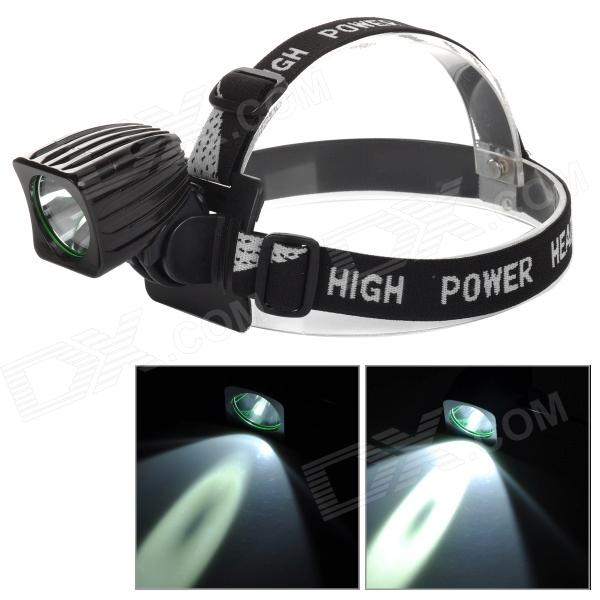 T01 650lm 4-Mode LED Cool Blanc Bike Light / Phare-Noir (4 x 18650)