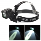 T01 Cree XM-L T6 LED Cool White Light Front Bicycle Bike Light / Headlamp - Black (4 x 18650)