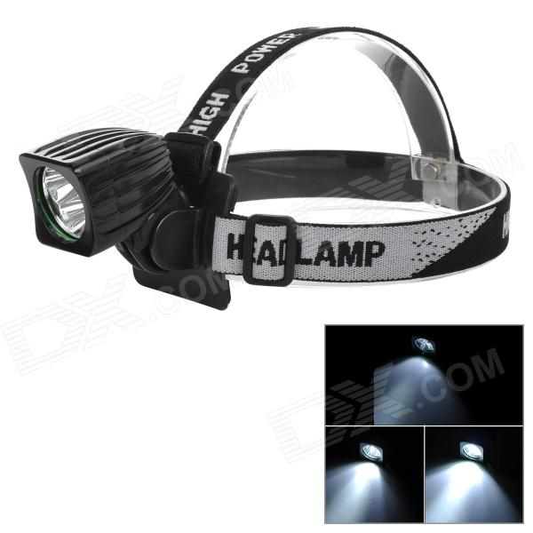 T03 500lm 3-Mode LED Cool White Front Bicycle Bike Light / Headlamp - Black (4 x 18650) marsing 3 led 3000lm 4 mode cool white bike light headlamp black 4 x 18650