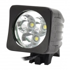 T03 500lm 3-Mode LED Cool Blanc Front Bicycle Bike Light / Phare-Noir (4 x 18650)