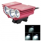 SolarStorm Cree XM-L T6 LED Cool White Light Front Bicycle Bike Light - Black + Red (4 x 18650)