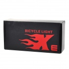 SolarStorm 800lm 3-Mode LED Cool White Front Sykkel Bike Light-Sort + Rød (4 x 18650)