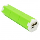 """2600mAh"" External Li-ion Battery Power Bank for Samsung i9500 / i9300 / N7100 - Green"