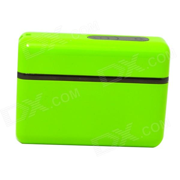 5200mAh External Li-ion Battery Charger Power Bank for IPHONE / IPAD / Cell Phone / MP3 - Green polymer lithium battery 11000mah 3 7v ultra large capacity mobile power charging treasure a core li ion cell