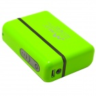 5200mAh esterna li-ion batteria caricabatterie Power Bank per IPHONE / IPAD / Cell Phone / MP3 - verde