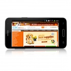 "Mini S5 MTK6572 Dual-Core Android 4.2 GSM Bar Phone w / 4,5 ""IPS, Wi-Fi, FM - Noir"