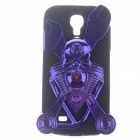 Cool Skull Style Protective Plastic with Silicone Back Case for Samsung Galaxy S4 i9500 - Purple