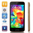 "Mini S5 MTK6572 Dual-Core Android 4.2 GSM Bar Phone w/ 4.5"" IPS, Wi-Fi, FM - Golden + Black"