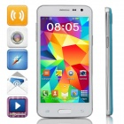 "Mini S5 MTK6572 Dual-Core Android 4.2 GSM Bar Phone w/ 4.5"" IPS, Wi-Fi, FM - Blue + White"
