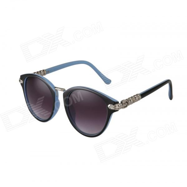 Reedoon 1417 Women's Stylish UV400 Sunshade Sunglasses - Blue + Purple reedoon 1417 trend of the goddess hip hop sunshade sunglasses black golden