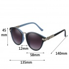 Reedoon 1417 Women's Stylish UV400 Sunshade Sunglasses - Blue + Purple