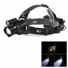 Mosquito-repellent CREE XM-L T6 2-LED Yellow & White Light Adjustable Zooming Headlamp (2 x 18650)