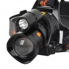 Mosquito-repellent 2-LED Yellow & White Light Adjustable Zooming Headlamp (2 x 18650)