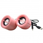 WLD FS-31 2 x 3W Mini Speakers for Laptops / Computers - Pink (2 PCS)