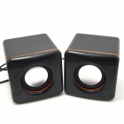 WLD FS-22 2 x 3W Mini Speakers for Laptops / Computers - Black (2 PCS)