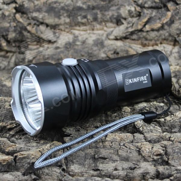 KINFIRE K40S 4-LED 1750lm 4-Mode Cool White Flashlight w/ Battery Indicator (2/3 x 18650) kinfire k40x 4 led 2000lm 3 mode white flashlight gray 4 x 18650