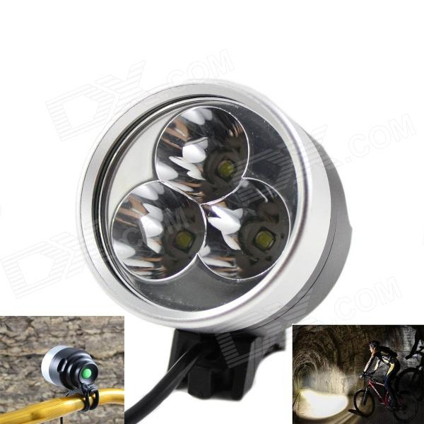 KINFIRE F30 3-LED 1800lm White Bicycle Light Headlight - Gray + Black (4 x 18650) 5 3 4 led headlight for triumph rocket iii 3